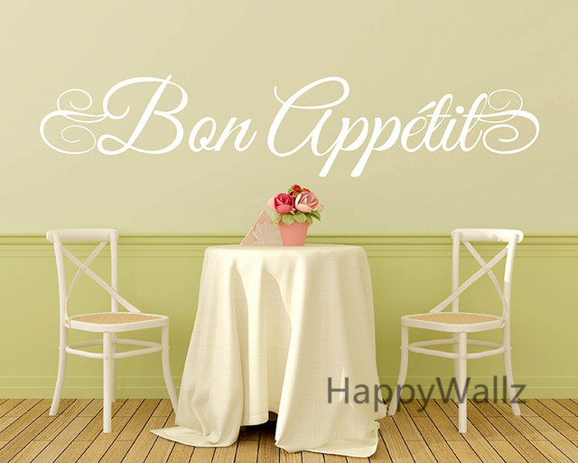Online Shop Bon Appetite Wall Quote Wall Sticker DIY Bon Appetite ...