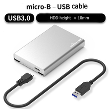 New Free tool 2.5'inch HDD Enclosure Micro-B to USB SATA3.0 Hard disk box up to 2Tb with 6Gpbs free shipping
