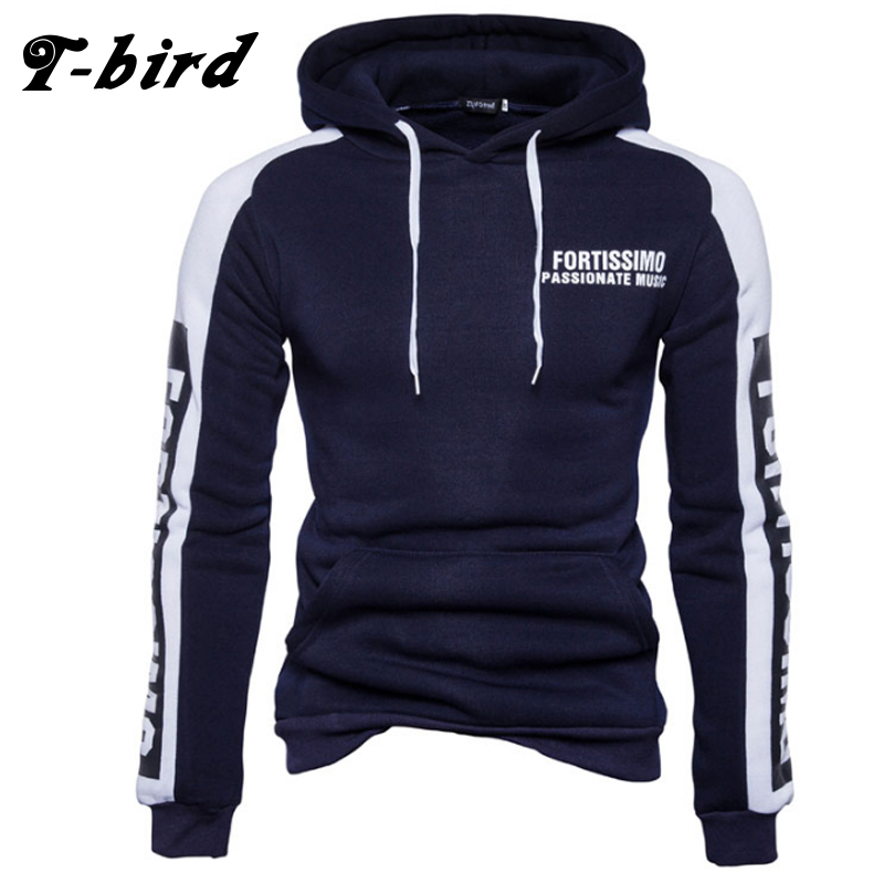 T Bird 2017 Hoodies Men Letter Printing Men Hip Hop Sweatshirt Winter Fashion Brand Hoodie Men