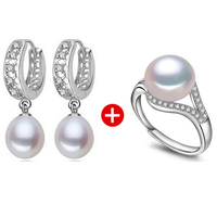 FENASY Amazing Price 925 Sterling Silver Jewelry 100 Real Natural Freshwater Pearl Jewelry Set For Women