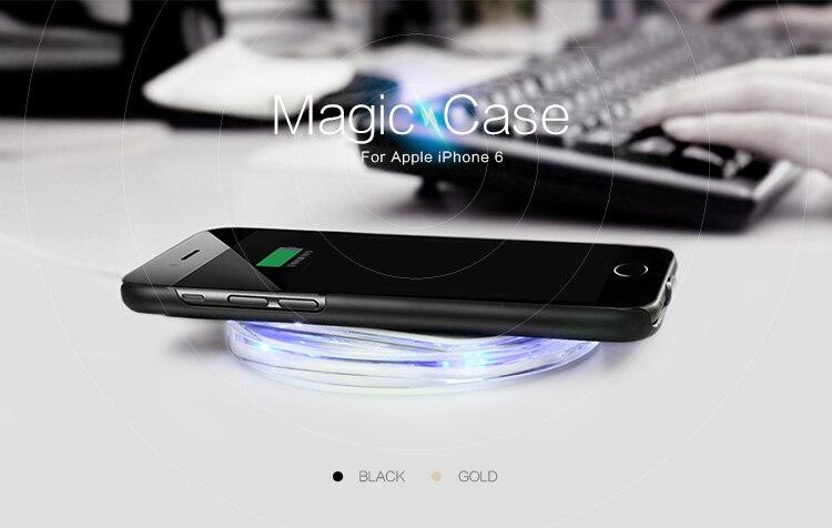 imágenes para Original de Nillkin Magia Qi Estándar de Carga Inalámbrica Receptor de Nuevo Caso de la Cubierta para Apple iPhone 6/iphone 6 s (4.7 pulgadas)