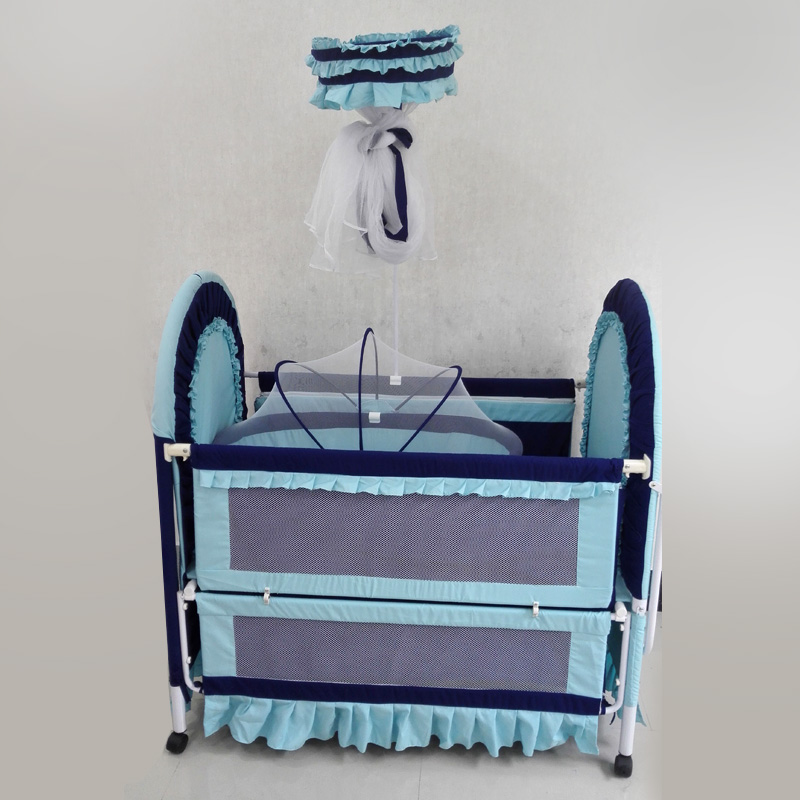 Holycat Baby Crib With Cradle Baby Bed Can Be Implemented Multifunctional Iron Beds With Mosquito Net Canopy Free Shipping