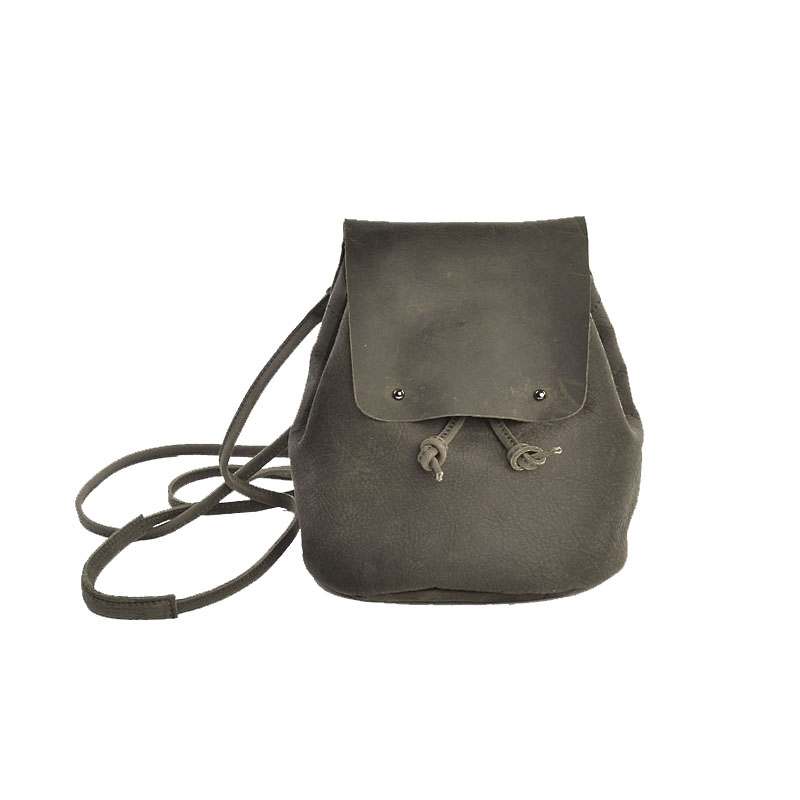 Vendange new original handmade vintage cowleather shoulder bag bucket bag personality backpack  2399 vendange original handmade simple leisure female genuine cowleather knapsack multifunctional knapsack2305