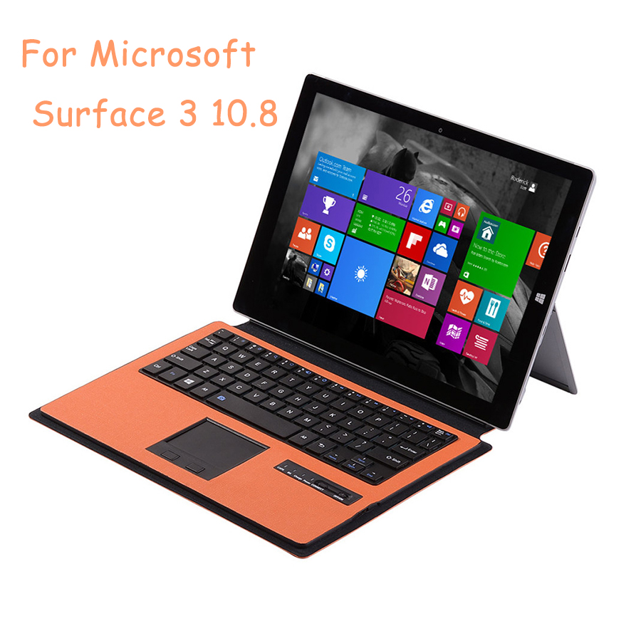 Ultra-Slim Portable Wireless Bluetooth 3.0 Type Cover Keyboard for Microsoft Surface 3 10.8 Inch with Two-Button Touchpad rapoo k2600 black slim type usb wireless keyboard with touchpad