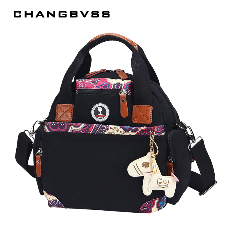 2017 New Style Ventilation Nanny Womens Bag Red Black Hobos Tote Maternity Backpacks Anti-open Light Weight Diaper Backpack