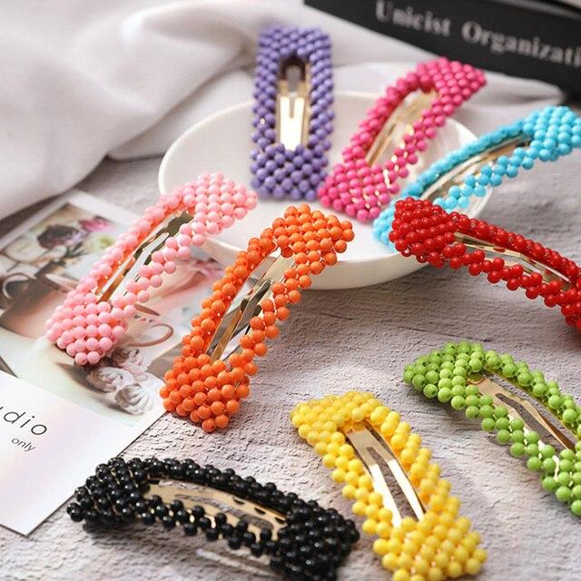 Nueva moda de Imitiation perlas carta Clips de pelo para las mujeres de la ciudad de París, Nueva York, Tokio, Londres horquillas broches Accesorios