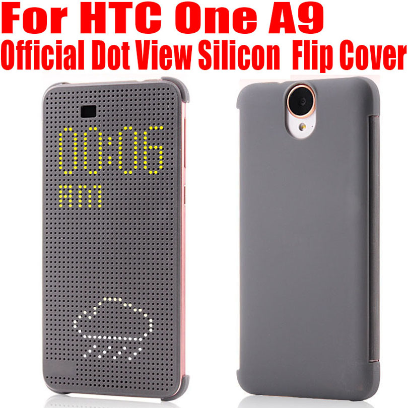 Silicon Case For HTC One A9 Official Best Quality Dot View Call ID Flip Cover For HTC A9 Smart Wake Up Sleep A91