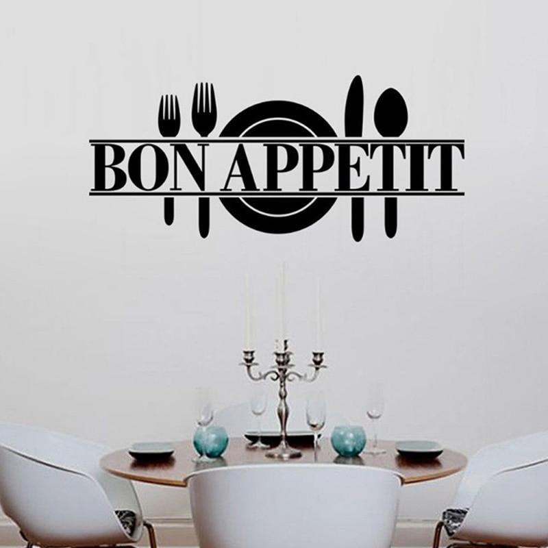 Kitchen Dining Room Decor Bon Appetit Decals Vinyl Wall Sticker
