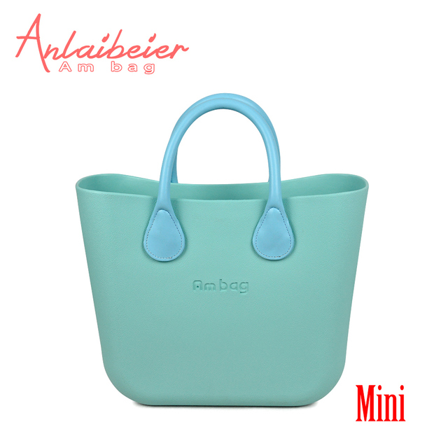 a86aa707b0 ANLAIBEIER Italy Obag O Bag Style Waterproof Mini EVA AMbag with Zip-up Canvas  Lining Colorful Leather Handle Women DIY Handbag