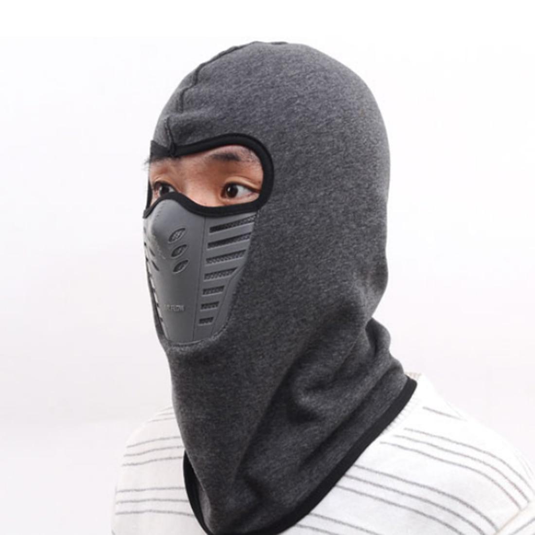 Full face mask neck warmer hood balaclava outdoor winter sports hats - Men Women Winter Neck Full Face Mask Thermal Fleece Protection Hat Ski Hood Helmet Cap