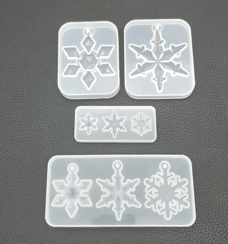 Snowflower Necklace Earrings Bracelet Jewelry Mold Pendants Crystal Scale Jewelry Resin Molds For Jewelry Making Tool