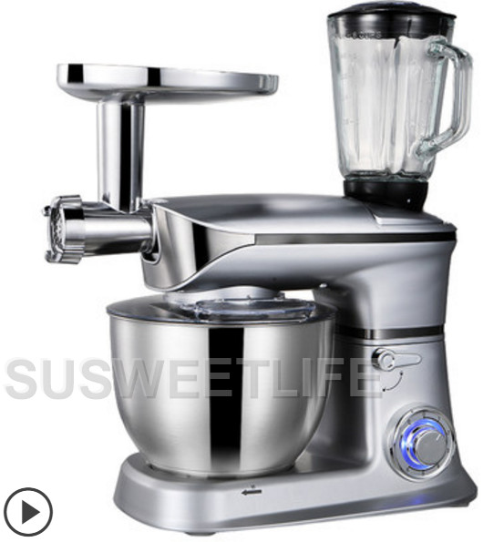 1300W 6.5L stand mixer food mixer household automatic multifunctional meat grinder,juicer kneading machine egg beating machine 2 pcs lot household juicer mixer accessories mixer rotation turn left