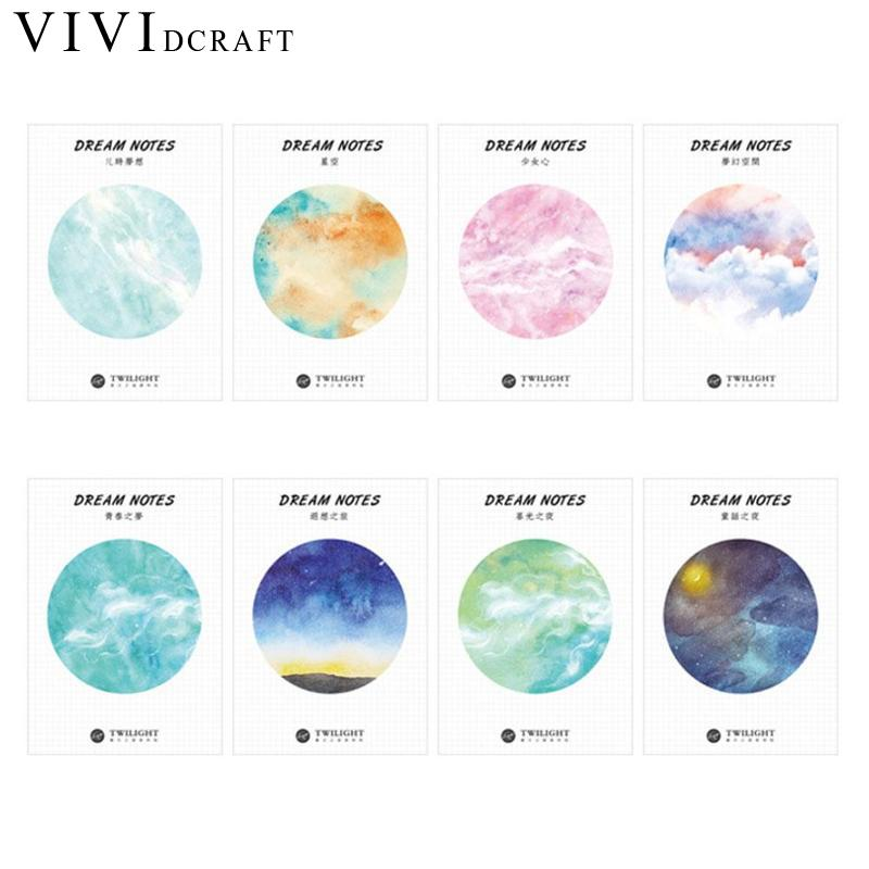 Vividcraft Korean Stationery School Supplies Kawaii Star Ball Weekly Plan Sticky Notes Post Memo Pad Message Stickers Paper