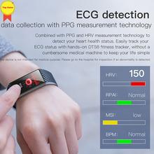 new 1.14 large-screen smart band men women fitness tracker IP68 waterproof ECG PPG heart rate monitor watch band wearable device scomas newest p3 smart wrist band ecg ppg measurement dynamic heart rate monitor usb charge fitness tracker smart watch band