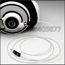 Hohe qualität Handgemachte 3,5mm 5N OFC Silber überzogene Kopfhörer Upgrade Kabel für K271 K272 K240 K242 K702 Q701