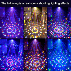 Image 3 - TRANSCTEGO 9 Kleuren 27 W Crystal Magic Ball Led Stage Lamp 21 modus Disco Laser Party Lichten Geluid Controle DMX Lumiere Laser