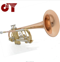 Free shipping JINYIN Bb Flat trumpet Professional trompete mouthpiece+padded case Brass wind instruments trumpeter JYTR EM300