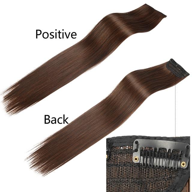 "SARLA 20"" 24"" 28"" Synthetic Hairpieces Straight Hair Extension Clip-in Hair Extensions Highlight Hair High Temperature Fiber 3"