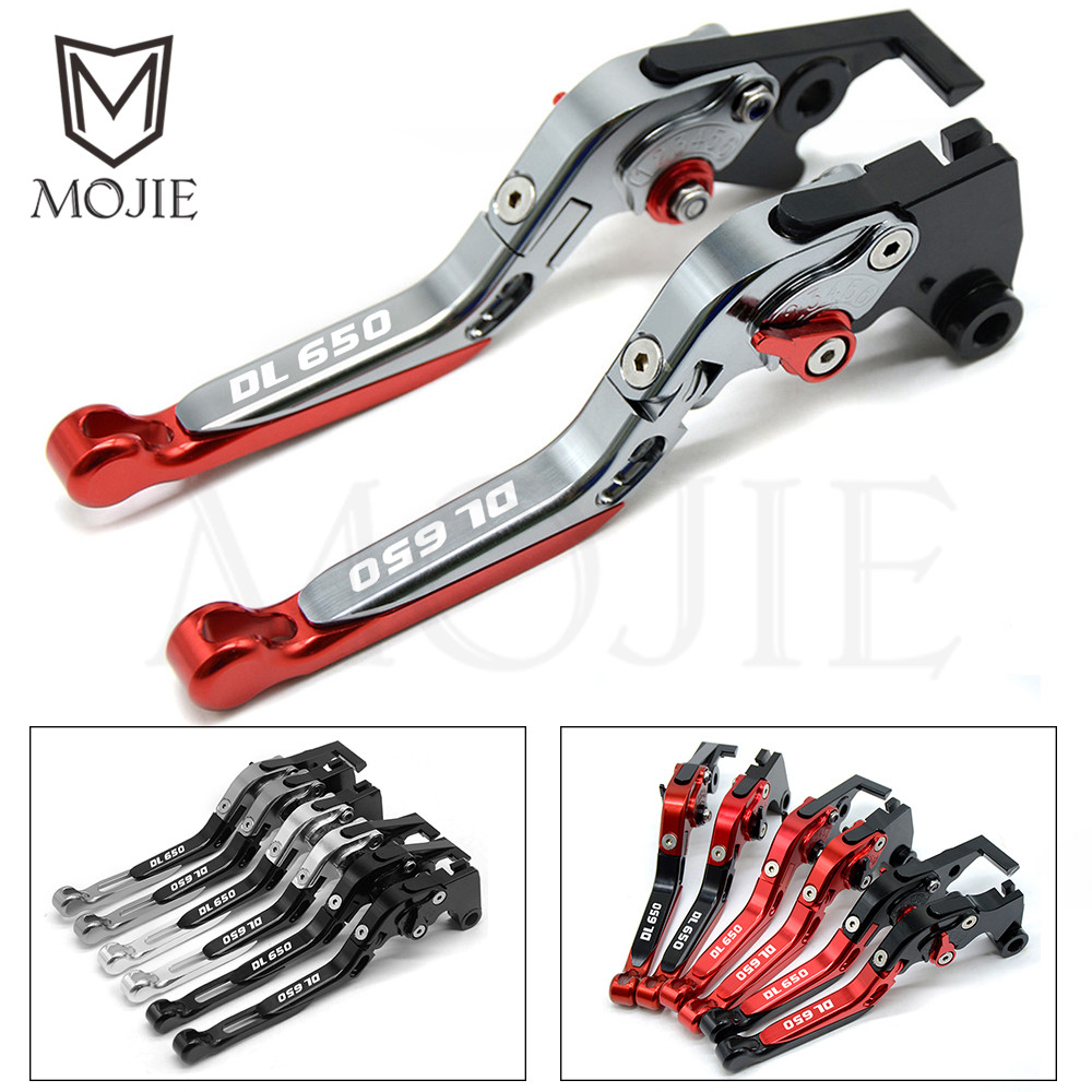 For SUZUKI DL650 V STROM DL 650 V Strom 2004 2010 2005 2006 2007 2008 2009 Motorcycle Accessories Adjustable Brake Clutch Levers-in Brake Disks from Automobiles & Motorcycles    1