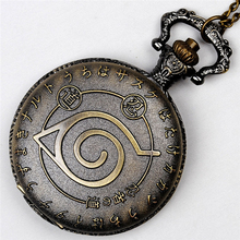 New Women's/Men Retro Bronze Round Dial Quartz Analog Pocket Watch Necklace