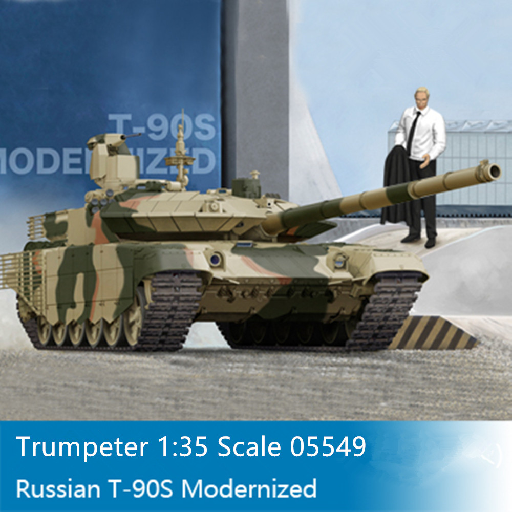 Building Toys From The 90s : Trumpeter scale russian t s modernized mbt military