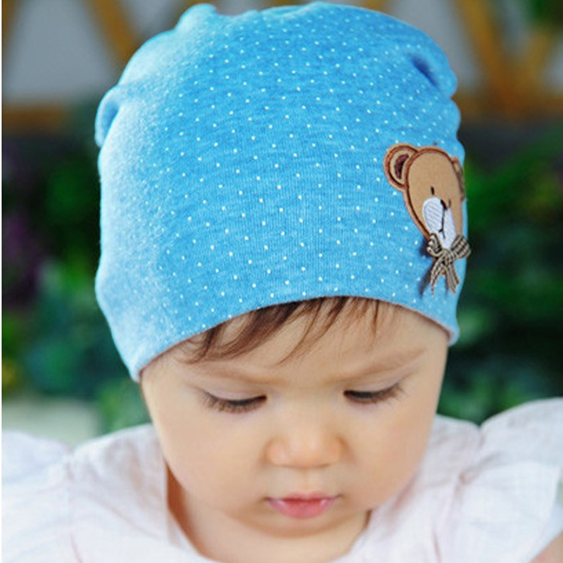 2017 Neonato Cute Baby Hat fotografia puntelli Infant Toddler Girl Boy Baby Cap carino Polka Dot Beanie Cotton Hat 11 colori