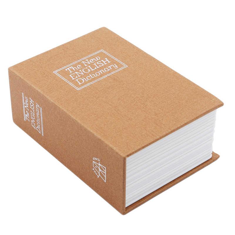 Creative. La หนังสือกล่องเงิน Piggy Bank ล็อค Hidden Secret Security Safe Lock เหรียญเก็บกล่องฝากของ