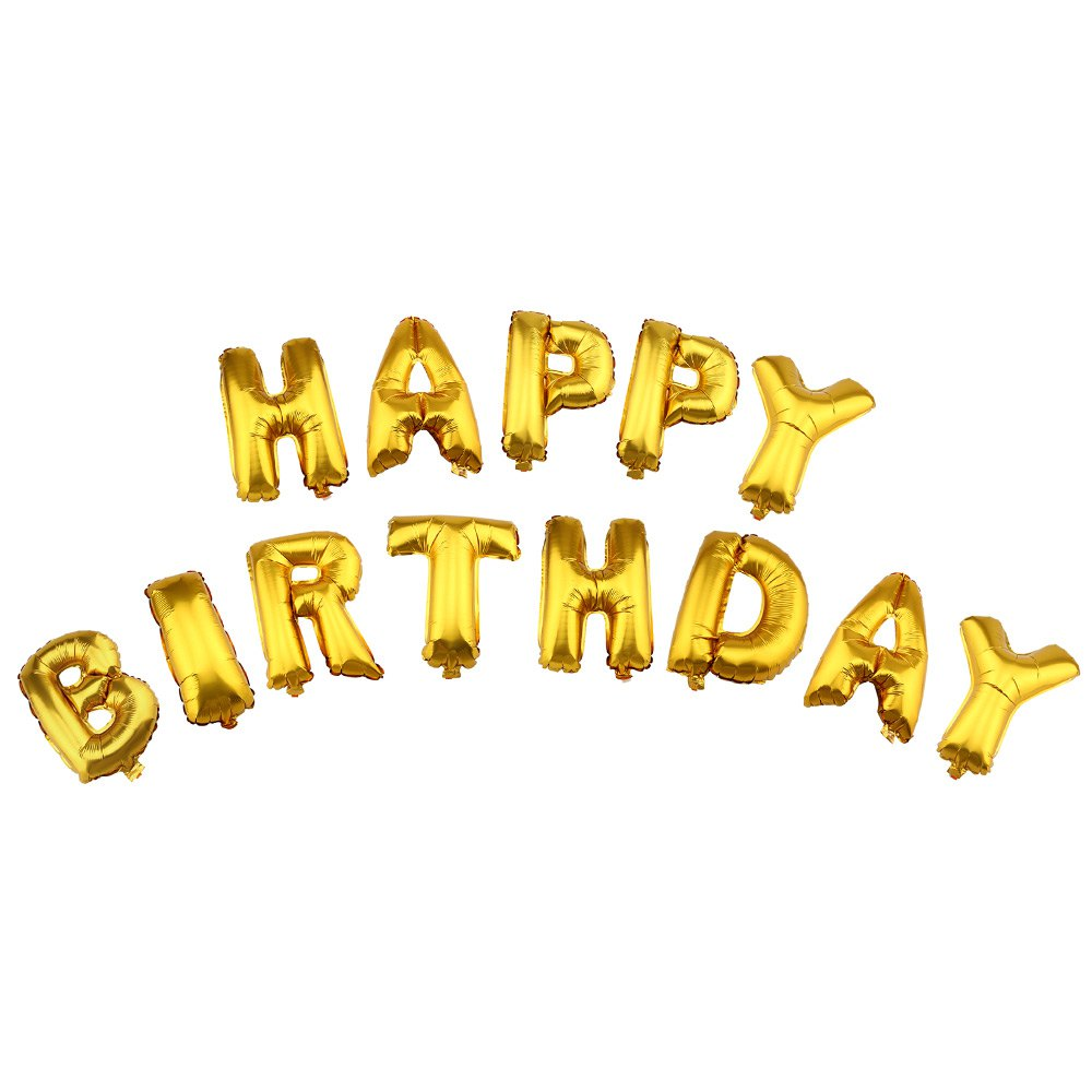 13pcslot letter happy birthday balloon aluminum foil balloon baby kit birthday party decoration alphabet helium balloon in balloons from toys hobbies on