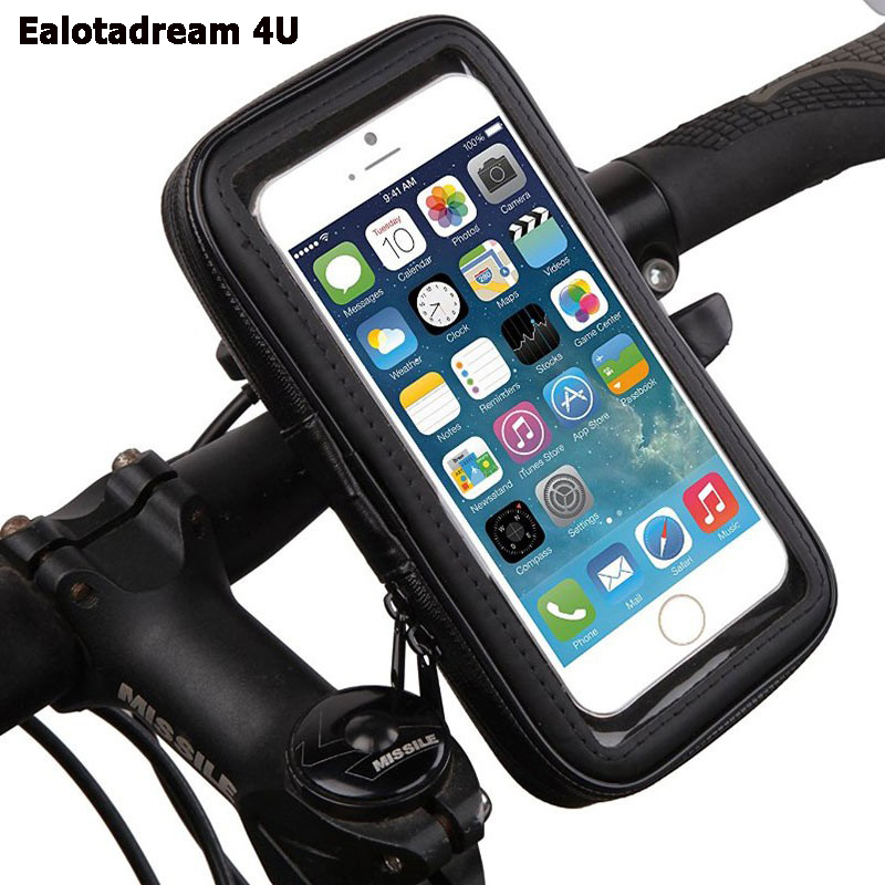 Universal Phone Holder Motorcycle Waterproof Case for Samsung S6/S7 /S8/S9/Note 8 Support Holder Bicycle bike Handlebar Mount