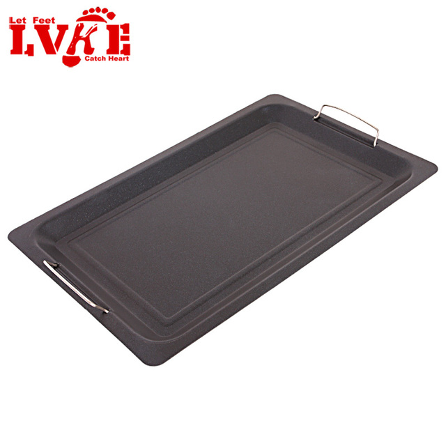 Eco-friendly thickening pan overstretches stainless steel grill bbq accessories food