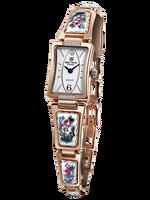 Royal Crown ювелирные часы 6431 Италия Бренд Diamond Японии MIYOTA розовое золото эмаль Роскошные Для женщин часы Красочные Аннотация горный хрусталь