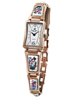 Royal Crown Jewelry Watch 6431 Italy brand Diamond Japan MIYOTA Rose gold Enamel Luxury Women Watch Colorful Abstract Rhinestone