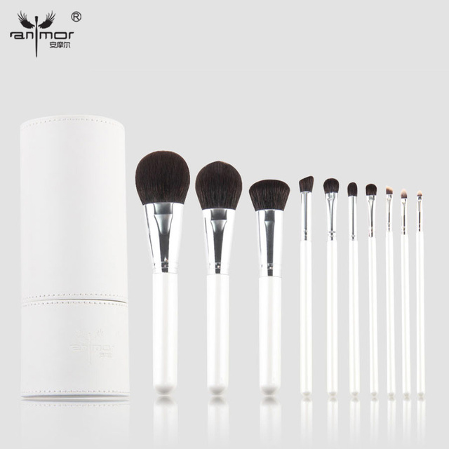 Newest 10 pcs High Quality Makeup Brushes Soft Make Up Brushes Professional Makeup Brush Set With a White Cup