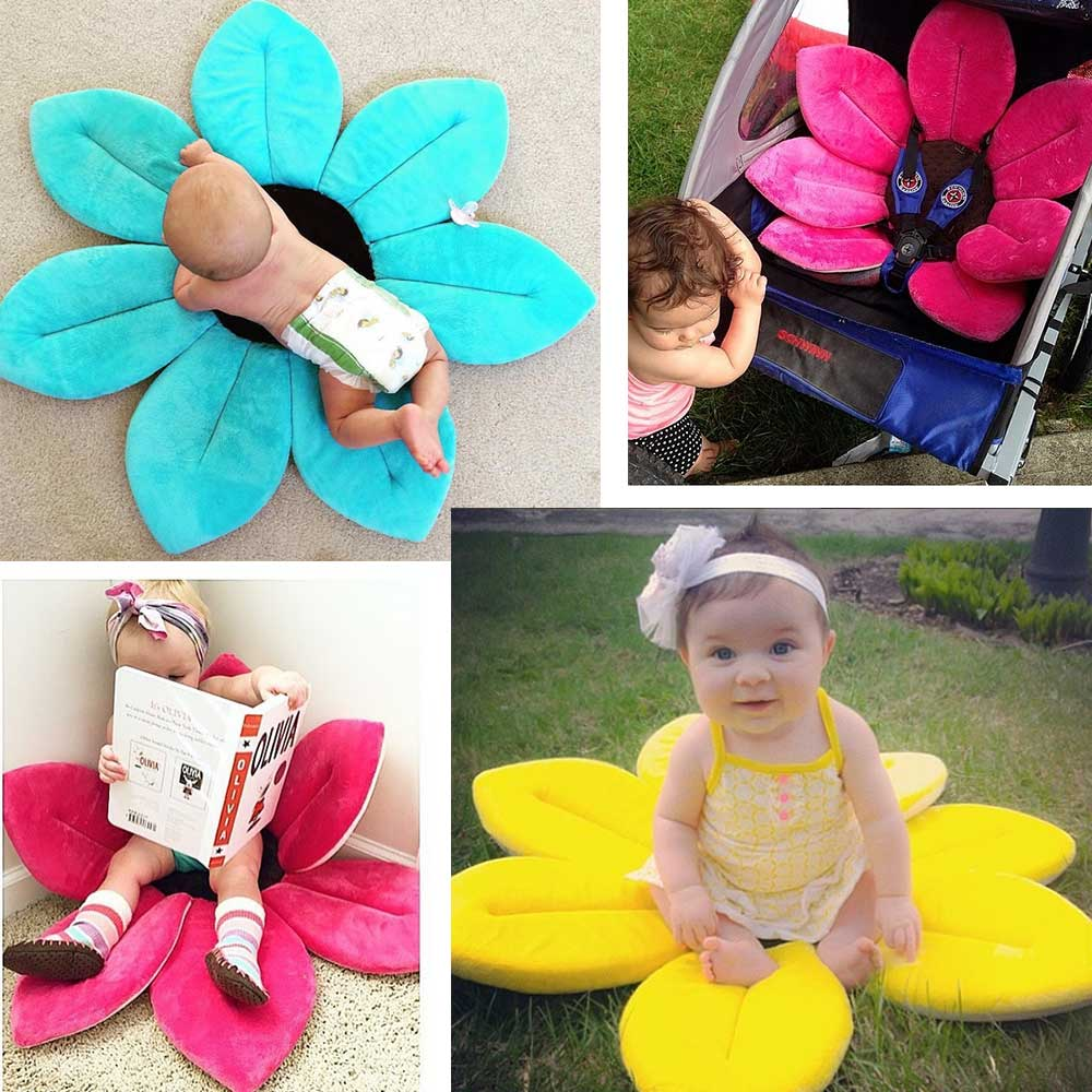 Baby Flower Shower Bath Mat Anti-slip Sponge - Discount ...