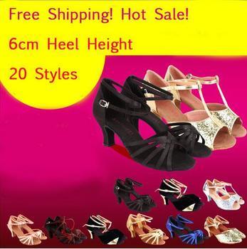Latin Dance Shoes Salsa Tango Ballroom Dancing For Women Girls High Quality On Sale