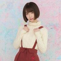 Princess sweet lolita sweater Autumn and Winter Rabbit Velvet Yarn Super Comfortable Warm High collar sweater women LG004