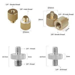 """Image 3 - Tornillos de fijación para cámara Adaptador convertidor de tornillos para cámara 8 tipos 1/4 """" 20 & 3/8"""" 16 hilos 1074 Placa de liberación rápida macho a hembra 8PC"""