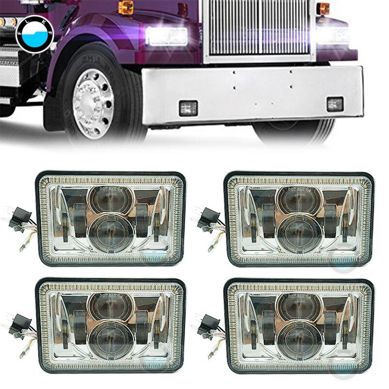 For Ford Trucks Offrord 4X6 Car Led Headlight DRL Turn Signal Light High/low Beam for KENWORTH PETERBILT