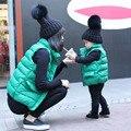 2016 Хлопок Мать И Сын Одежда Семейные Костюмы Верхняя Одежда Пальто Жилет Для Мальчиков И Дамы