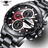 LIGE Watch Men Business Waterproof Clock Mens Watches Top Brand Luxury Fashion Casual Sport Quartz Wristwatch