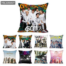 GOT7 Pillow Case For Home Decorative Pillows Cover Invisible Zippered Throw PillowCases 40X40,45X45cm(China)