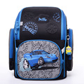High Quality 2017 New 2-6 Grade Children School Bags For Boys 3D Racing Car Motorcycle Pattern Waterproof Orthopedic Backpack
