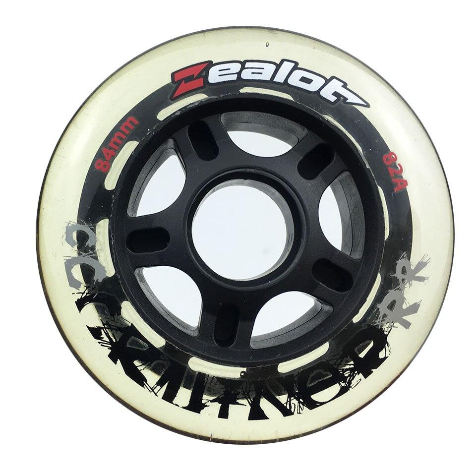84mm 8 pièces Patin de Vitesse en ligne Roues Transparent 82A Blanc 83A D'autres couleur 80A Pneus Livraison De Patinage Rouleau Pour racing Patines
