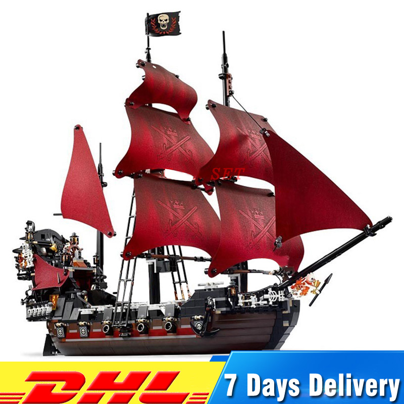 Clone 4195 1151pcs Queen Anne's revenge Pirates of the Caribbean Pirate Ship Educational Building Blocks Set купить в Москве 2019