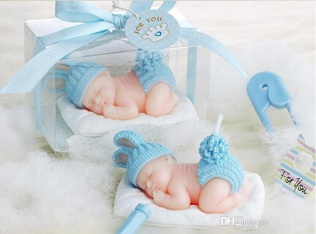 New 3d Sleeping Baby Candles Flameless Candles Baby Birthday Party