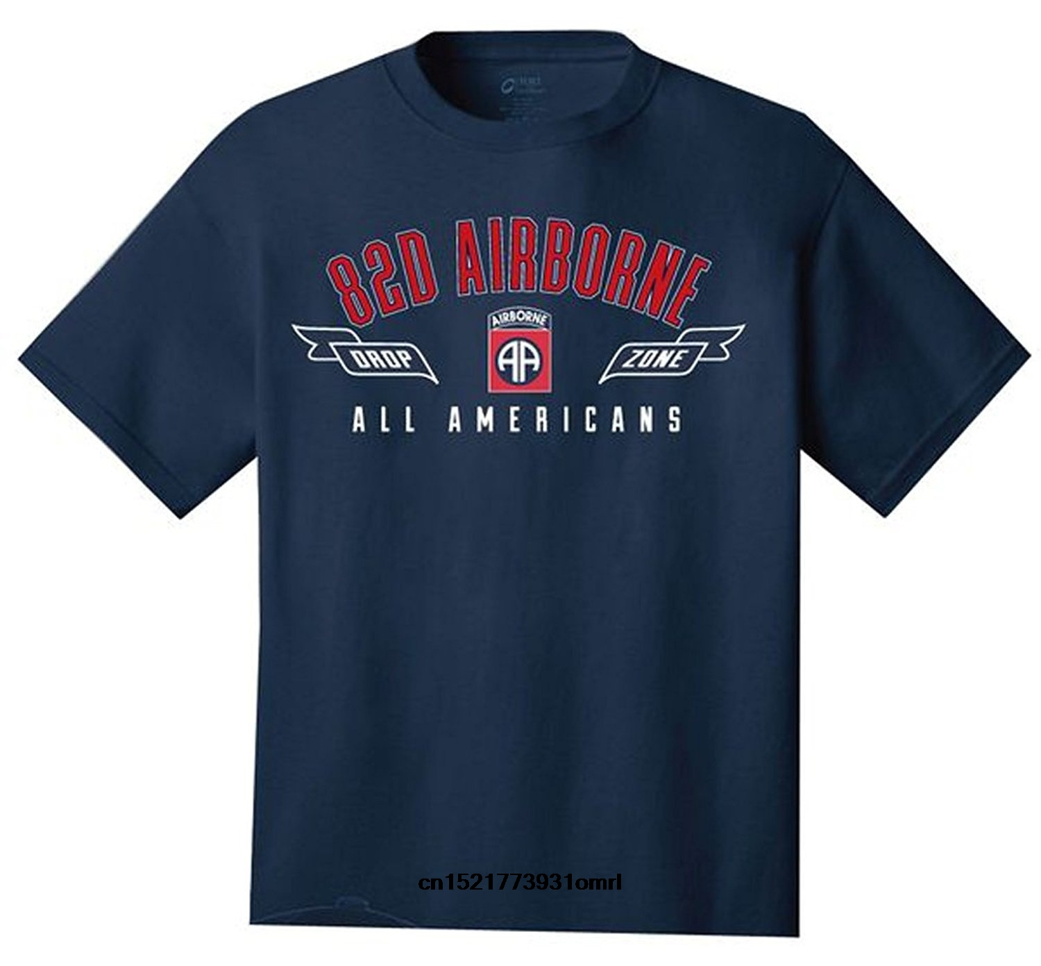 d9246178 Men T shirt U.S. Army 82nd Airborne Drop Zone All Americans Tshirt. Navy  Blue funny