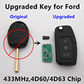 Actualizado remoto clave para ford fiesta focus mondeo c-max s-max coche galaxy 433 mhz 4d60 4d63 o chip de hoja fo21