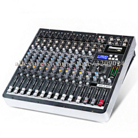 High Power Mixer with 12 Channel Mixer Amplifiers with Effect Digital DJ Karaoke Stage Wedding Music Sound USB Equipment Mixing
