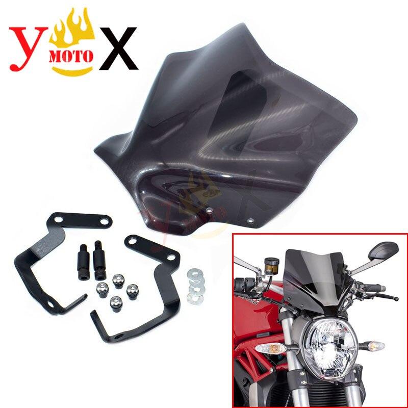para motocicleta Yamaha accesorios de motocicleta para motocicleta parabrisas de motocicleta duradero Parabrisas deflector de aire Smoked small