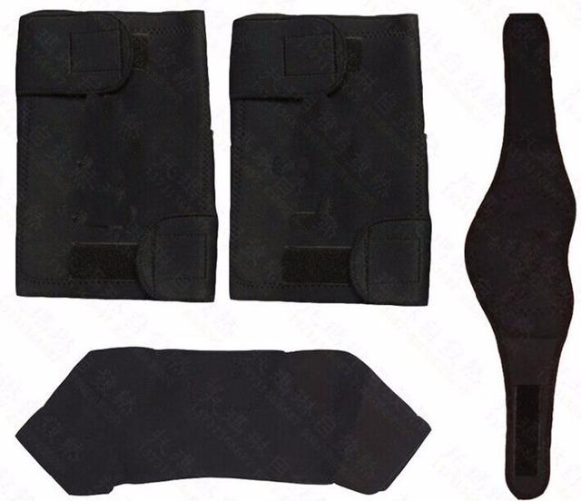 3-em-1 Massagem Cinto Cinto de Turmalina Auto Aquecimento Magnética do ombro pescoço na altura do joelho pads Para Aliviar A Dor & Manter Quente